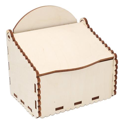 L-1097 Деревянные заготовки Коробка под специи 12,5*9*12,5см АСТРА