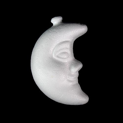 Заготовка для декорирования из пенопласта 'Луна (подвеска)', h 9*6см
