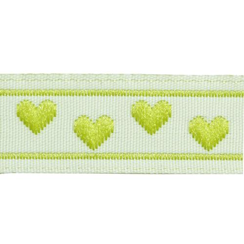 05-03504/11 Тесьма жаккардовая 11мм салат 'сердечки'