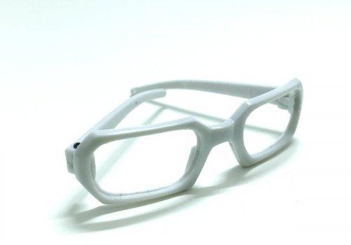 26199 Очки без стекла , пластик, прямоугольные, 7 см , (1шт) цв.белый