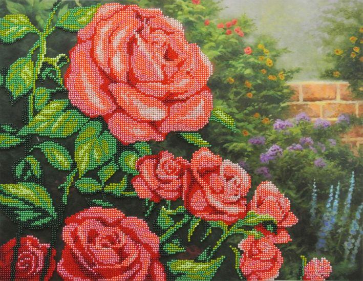 БГ-231 Набор для вышивания 'МП Студия' 'Красные розы', 28х35 см
