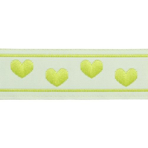 05-03504/17 Тесьма жаккардовая 17мм салат 'сердечки'