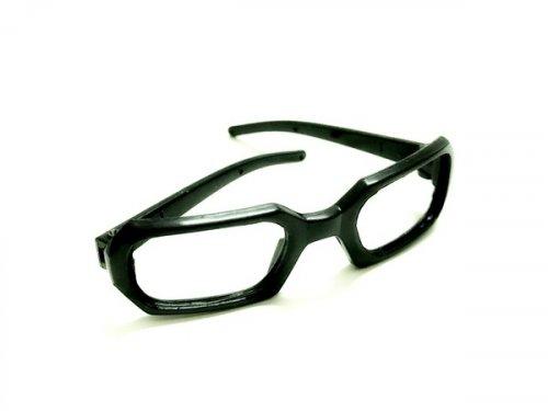 26199 Очки без стекла , пластик, прямоугольные, 7 см , (1шт) цв.черный