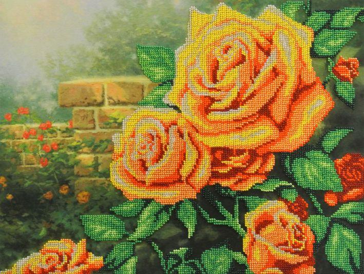 БГ-232 Набор для вышивания МП Студия 'Желтые розы'28х35 см