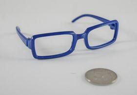 26286 Очки без стекла , пластик,прямоугольные, 8 см , (1шт) цв. синий