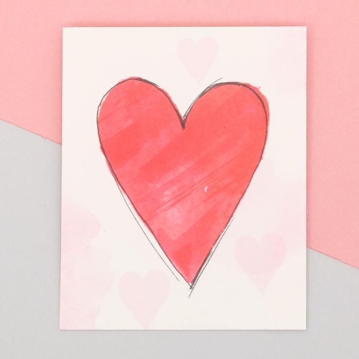 3639891 Пакет подарочный «С любовью», 8 × 10 см