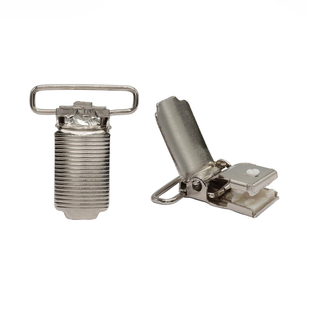 Клипса для подтяжек 'полоса' 25 мм, сталь