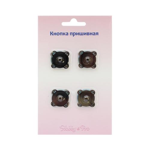 62146 Кнопка магнитная пришивная 18мм чер/ник упак(4шт) Hobby&Pro