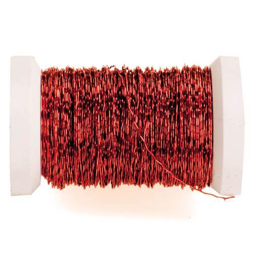 62210003 Проволока декоративная, d 0,30мм, 45м, красный Glorex