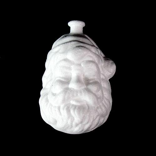 Заготовка для декорирования из пенопласта 'Голова Санта-Клауса (подвеска)', h 8*5см