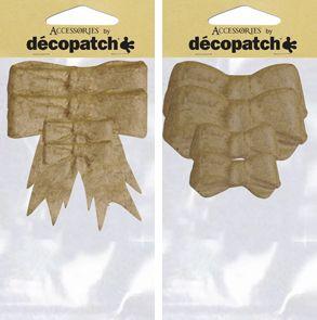 Фигурка из папье-маше, бантики 2 вида, мал/бол