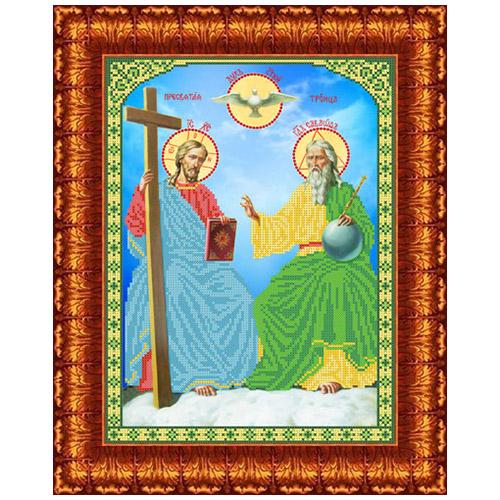 КБИ-3026 Канва с рисунком для бисера 'Новозаветная Троица' А3