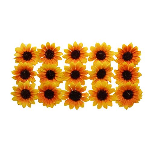 63803593 Бумажные цветочки 'Подсолнухи', d 35 мм, упак./15 шт., Glorex