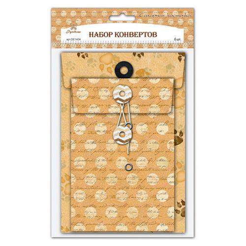 DE1404 Набор конвертов 'Сахарная косточка' 'Рукоделие'