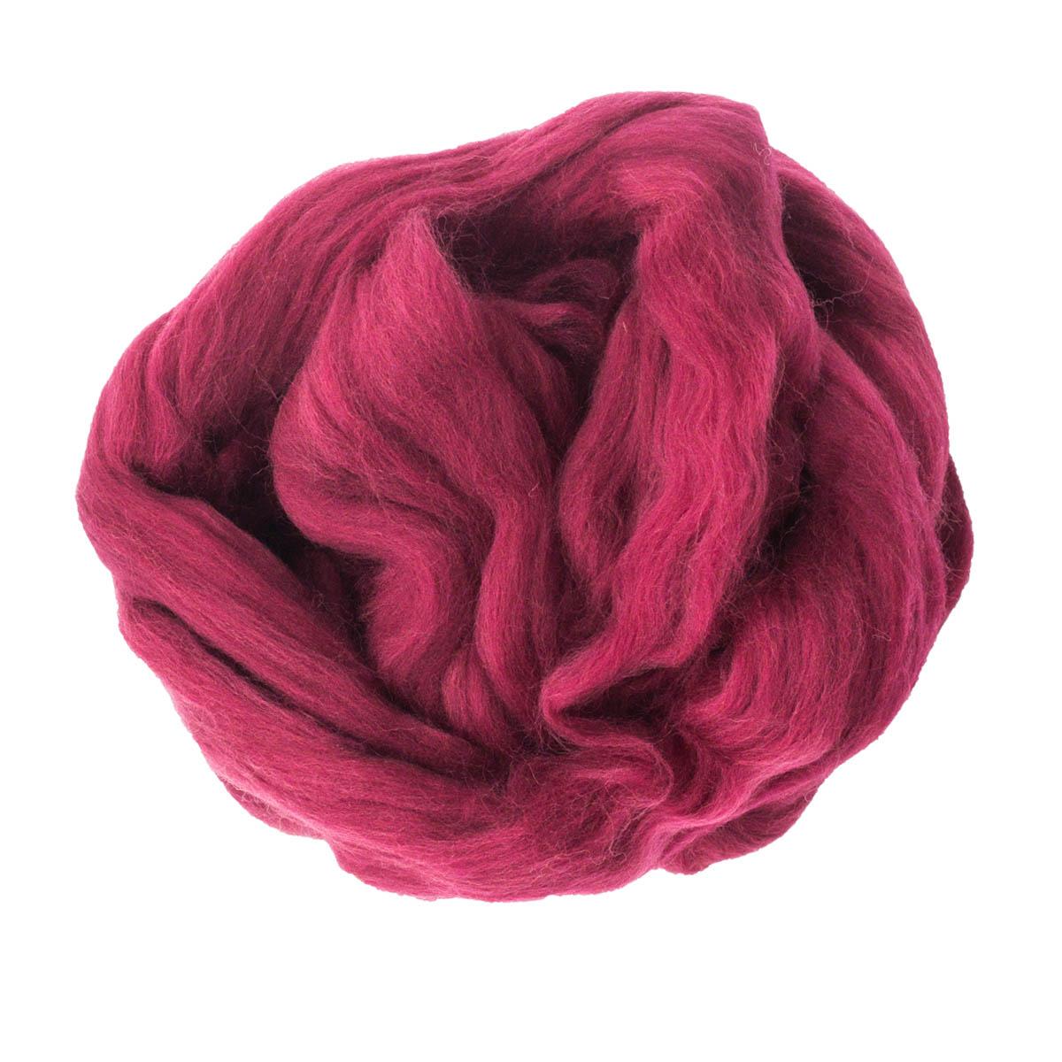 84304-2 ORCHIDEA Шерсть для валяния, цвет бордовый, 50 г