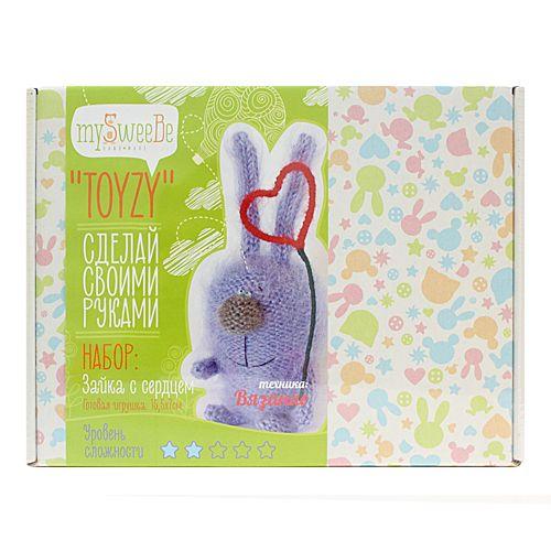TZ-K004 Набор для вязания 'Зайка с сердцем' Toyzy