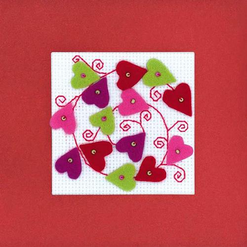 1421АС Набор для вышивания Riolis открытка 'Валентинка', 14*14 см