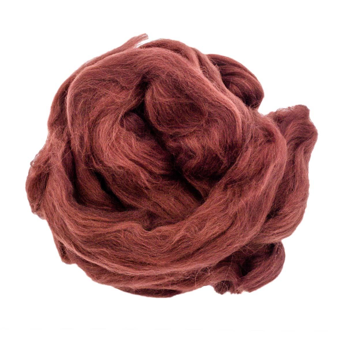 84306-2 ORCHIDEA Шерсть для валяния, цвет шоколадный, 50 г