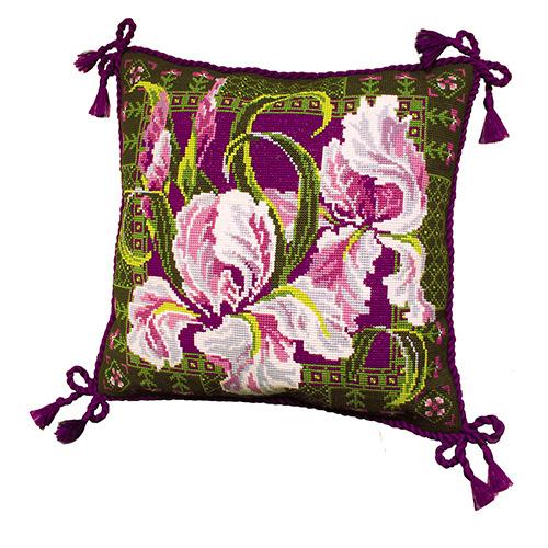 657 Набор для вышивания Riolis подушка 'Ирисы', 40*40 см
