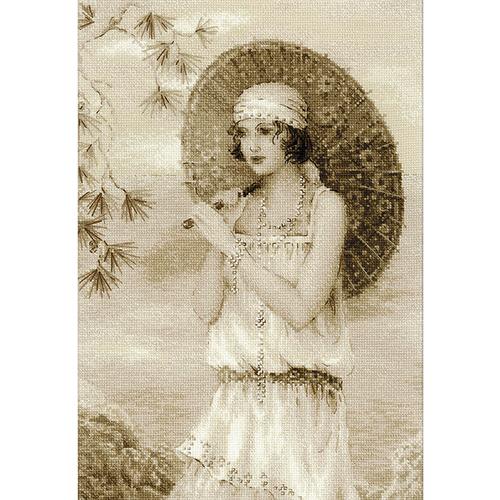 1434 Набор для вышивания Riolis 'Старая фотография. Ривьера', 26*38 см