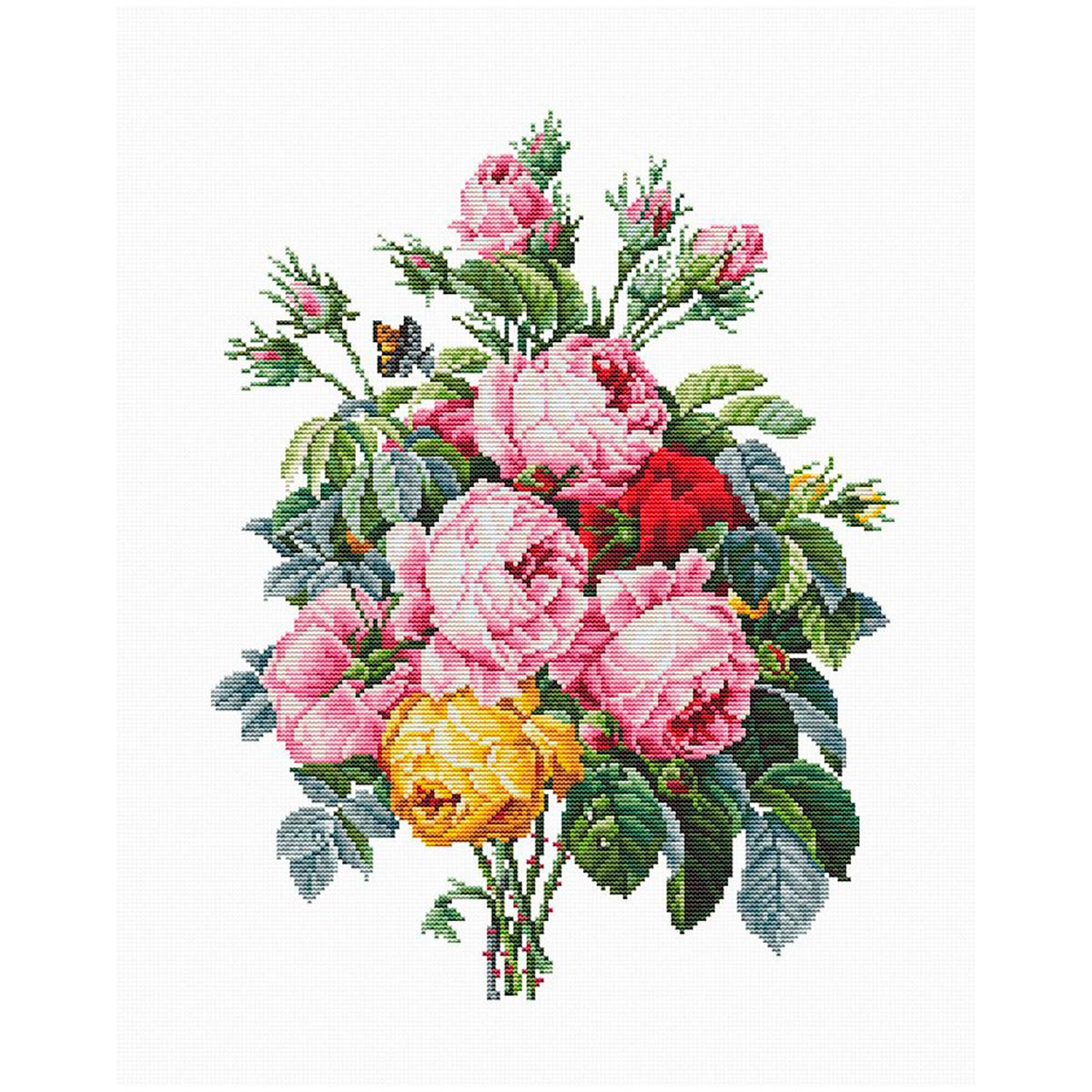 B2372 Набор для вышивания 'Розы' 20*26см, Luca-S