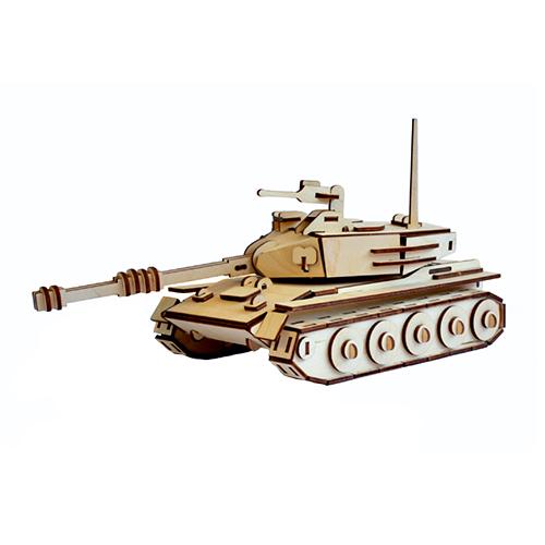 L-751 Деревянная заготовка конструктор 'Сделай сам. Танк' 30*14*15,5 см Астра