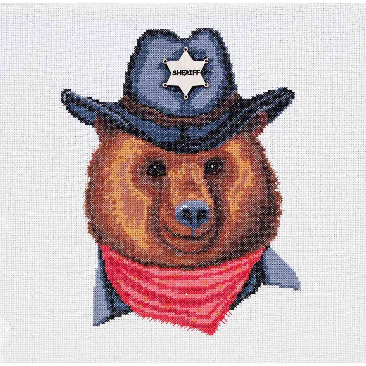 К-180 Набор для вышивания крестом Созвездие 'Шериф' 18,5*24см