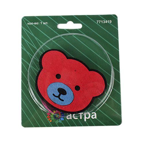0368-0216 Клипса-магнит из фетра для штор 'мишка' 'Астра'