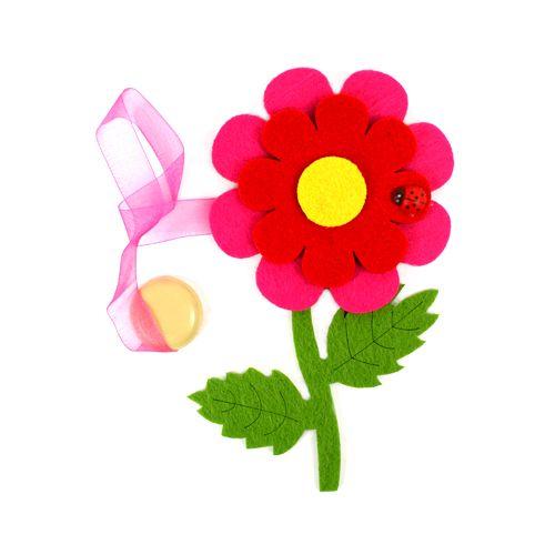 0368-0217 Клипса-магнит из фетра для штор 'цветок' 'Астра'