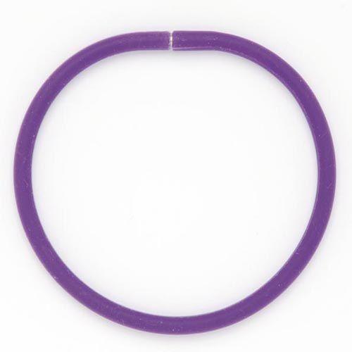 61632007 Силиконовые браслеты 21 см, 3шт, фиолетовый цв. Glorex
