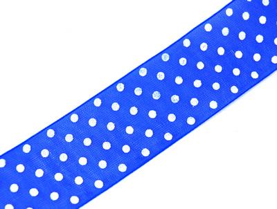 24577 Лента органза с рисунком JY - 2501 2,5 см*44,7м ±1м, цв. синий