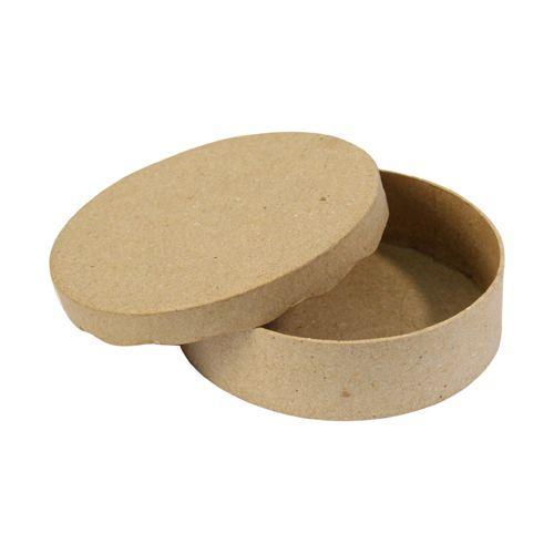 Фигурка из папье-маше, коробка круг/волна, 11*3 см BT008