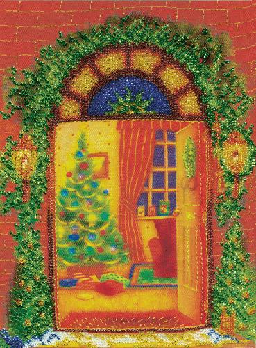 Б-557 Набор для вышивания бисером 'Чарівна Мить' 'Новый год', 25*19 см