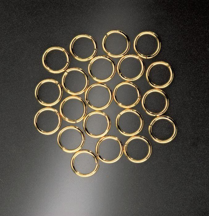 66203203 Кольцо 20шт. 8мм, золото Glorex