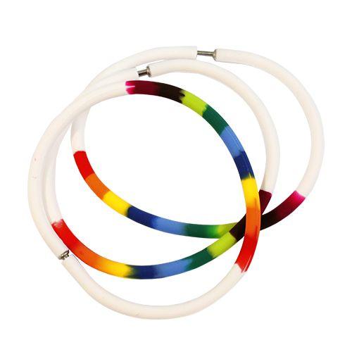 61632014 Силиконовые браслеты 21 см, 3шт, разноцветный Glorex