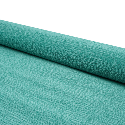 58897 Бумага гофрированная простая, 50см*2,5м 180гр 17Е/4 морская зеленая