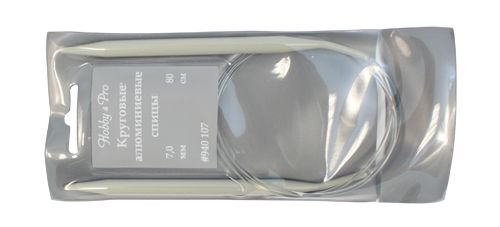 940170 Спицы круговые алюминиевые с покрытием 80см, 7,0мм Hobby&Pro