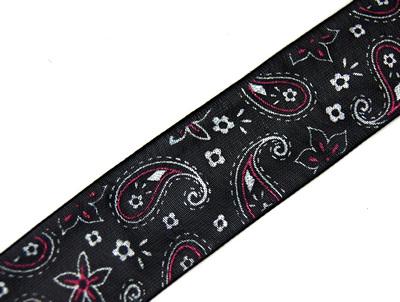 24587 Лента органза с рисунком JY - 2511 2,5 см*44,7м ± 1м, цв. черн