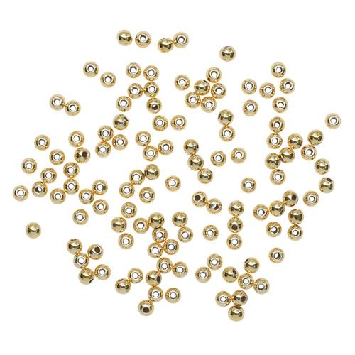 64325093 Бусины металлические, золото, 2,5 мм, упак./125 шт., Glorex