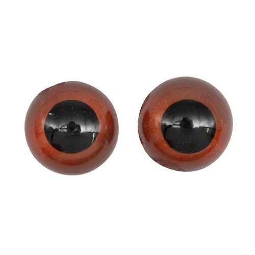 26638 Зрачок(радужка)12мм (фикс. при помощи клея), уп/8шт, коричневый