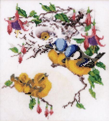 БН-3046 Набор для вышивания бисером Hobby&Pro 'Утренние трели', 27*25 см