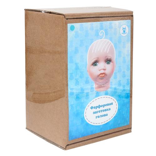 27036 Фарфоровая заготовка №3 'Голова для малыша': 6см*6,5см гл.-голуб.