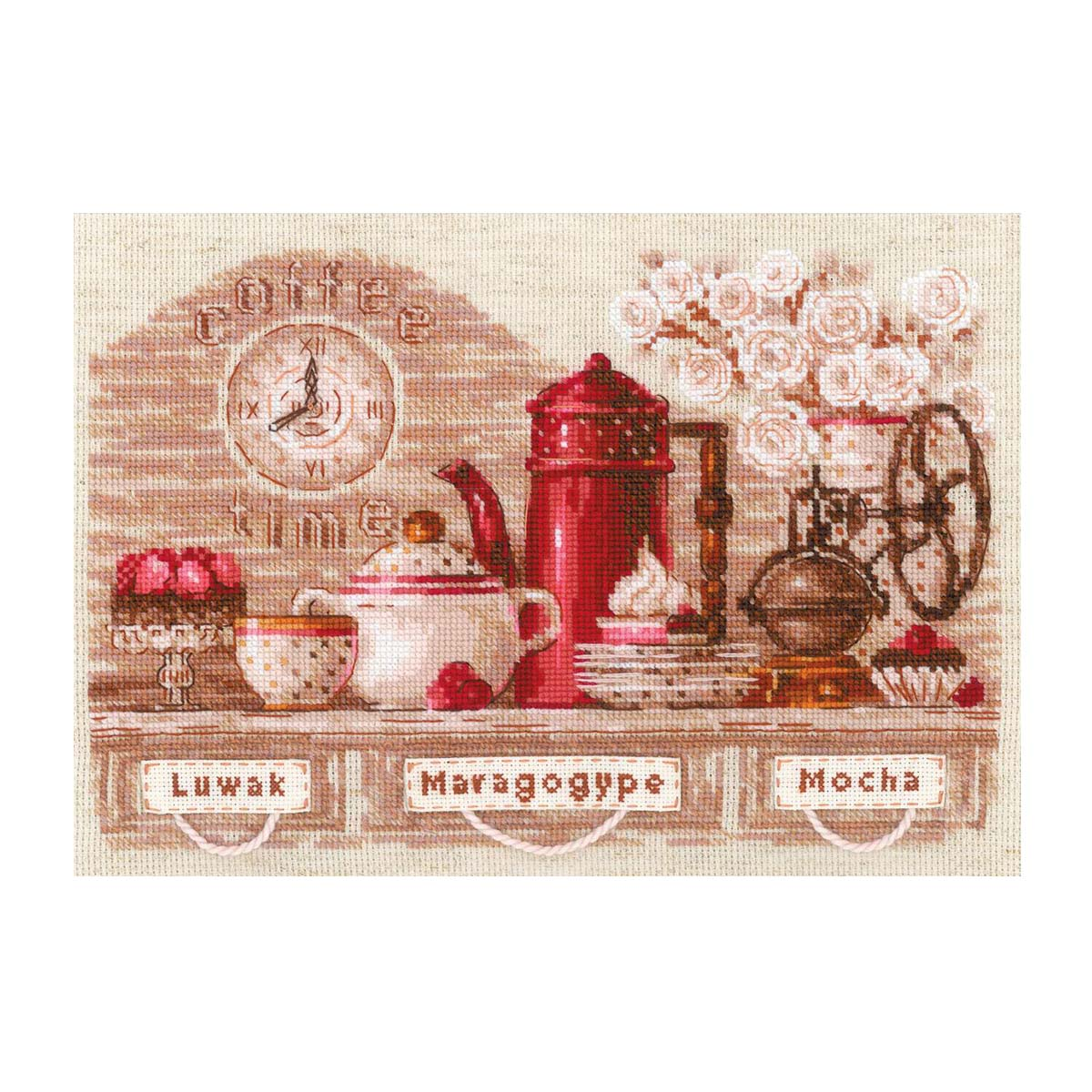 1874 Набор для вышивания Риолис 'Coffee Time' 30*21 см