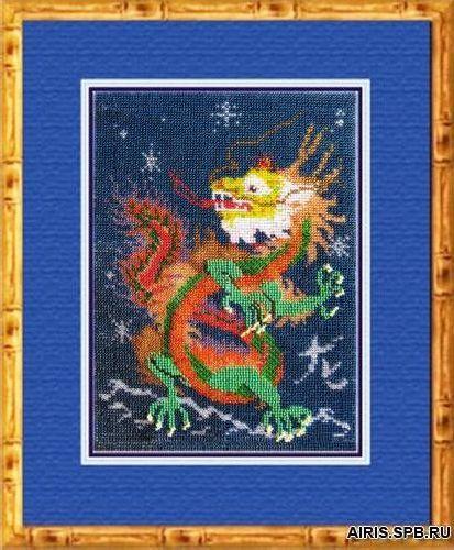 034РЗ Набор для вышивания бисером 'Вышивальная мозаика' 'Год дракона', 20*27,5 см