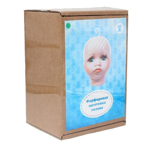 27035 Фарфоровая заготовка №3 'Голова для малыша': 6см*6,5см гл.-зелён.