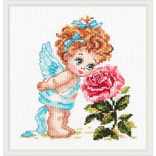 35-09 Набор для вышивания 'Чудесная игла' 'Ангел нашего счастья', 12*14 см