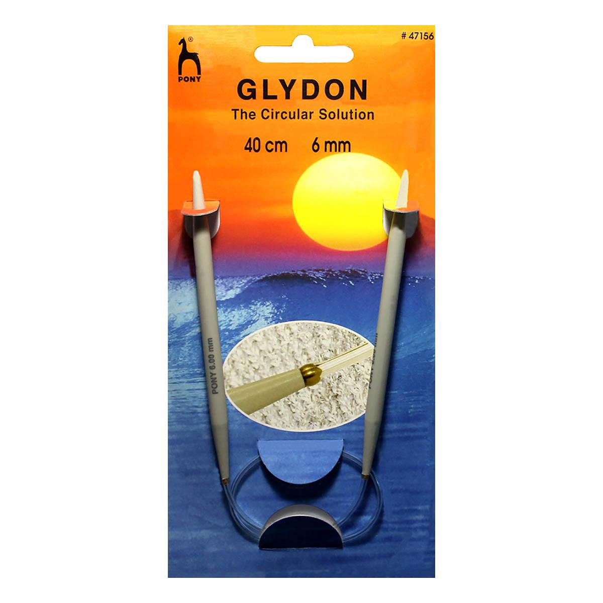 47156 Спицы GLYDON круговые 6,00 мм/ 40 см, пластик PONY
