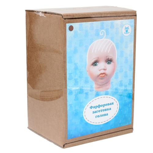 27034 Фарфоровая заготовка №3 'Голова для малыша': 6см*6,5см гл.-карие