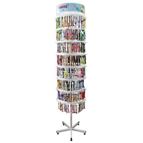 Мулине 'Bestex' (8м) комплект для стенда 400 цветов по 12шт, (хлопок 393 цвета + металлик 7 цветов)