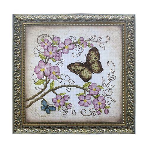 ВТ-511 Набор для вышивания 'Чарівна Мить' Crystal Art 'Очарование весны', 20*20 см